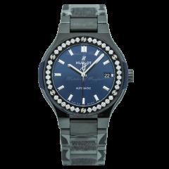 568.CM.7170.CM.1204 Hublot Classic Fusion Ceramic Blue Diamonds 38 mm