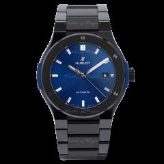 548.CM.7170.CM| Hublot Classic Fusion Ceramic Integrated Blue Bracelet