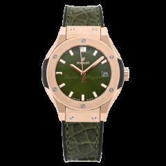 581.OX.8980.LR   Hublot Classic Fusion Green King Gold 33 mm watch
