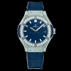 581.NX.7170.LR.1104 Hublot Classic Fusion Blue Titanium Diamonds