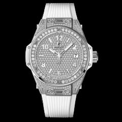 Hublot Big Bang Steel White Full Pave 465.SE.9010.RW.1604   E-Boutique