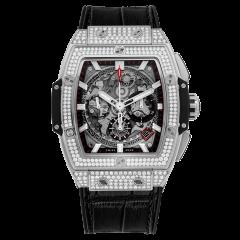 641.NX.0173.LR.1704 | Hublot Spirit of  Big Bang Titanium Pave 42 mm watch.  | E-Boutique