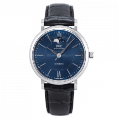 IW459402   IWC Portofino Automatic Moon Phase 40mm watch. Buy Online