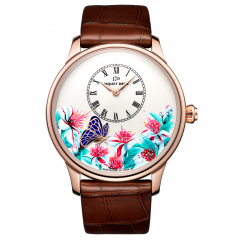 J005033283   Jaquet Droz Petite Heure Minute Butterfly Journey Red Gold