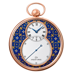 J080033040 | Jaquet Droz The Pocket Watch Paillonnee Red Gold 50 mm