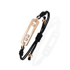 05311   Buy Online Messika Move Cord Pink Gold Diamond Bracelet