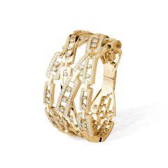 Messika Move Infinity Yellow Gold Diamond Cuff Bracelet 5822