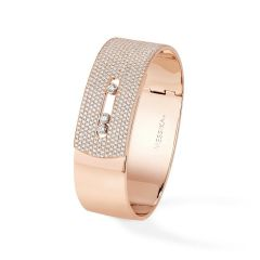 06720   Buy Online Messika Move Noa Pink Gold Diamond Bracelet Size M