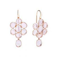 Pomellato Capri Rose Gold Quartz Earrings POB0060_O7000_000QR