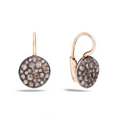 Pomellato Sabbia Rose Gold Diamond Earrings O.B204MO7BR