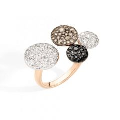 A.C001BO7BRBB   Pomellato Sabbia Rose Gold Diamond Ring   Buy Now