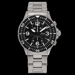 757.010   Sinn 757 Instrument Duochronograph Black Dial Bracelet 43mm watch. Buy Online