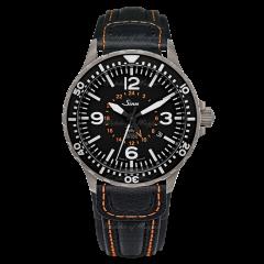 857.0401   Sinn 857 UTC VFR Instrument Pilot Black Dial Black Leather 43 mm watch. Buy Online