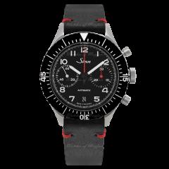 158.010   Sinn 158 Instrument Chronographs Black Dial Leather 43mm watch. Buy Online