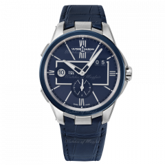 243-20/43 | Ulysse Nardin Executive Dual Time 42mm watch. Buy Online