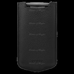 004-00004-002-01 | Vertu Aster P Slip Calf  Jade Black Leather Case. Buy Online