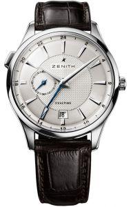 03.2130.682/02.C498   Zenith Elite Dual Time 40 mm watch. Buy online.