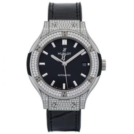 Hublot Classic Fusion Titanium Pave 565.NX.1171.LR.1704 New Authentic watch