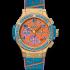Hublot Big Bang Pop Art Yellow Gold Blue 41 mm watch. Reference: 341.VL.4789.LR.1207.POP15